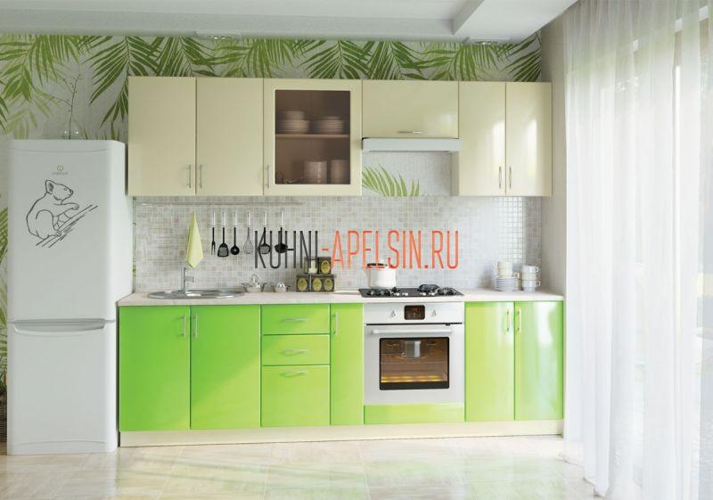 Кухонный гарнитур Зеленый Кофе от фабрики Апельсин