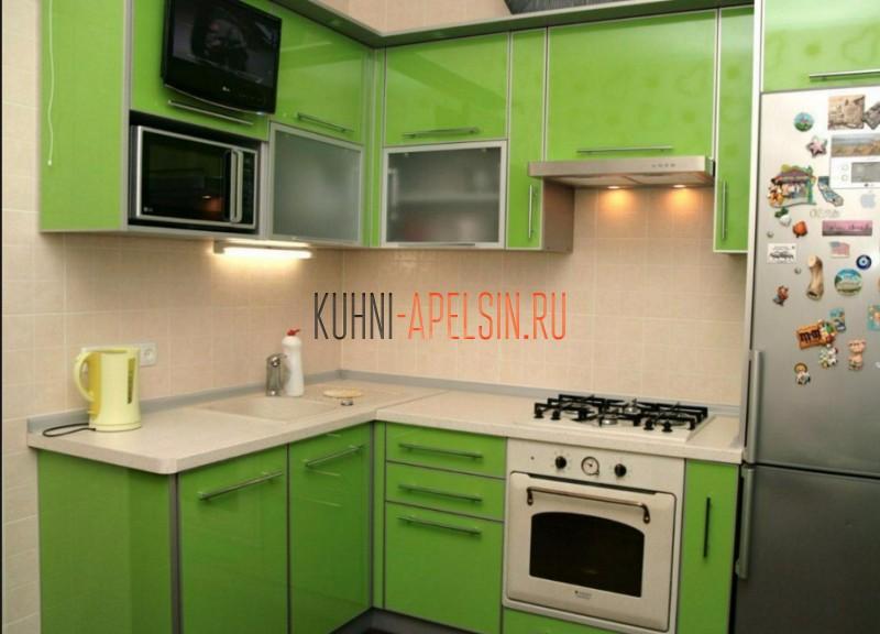 Кухонный гарнитур Ламетри для хрущевки от фабрики Апельсин