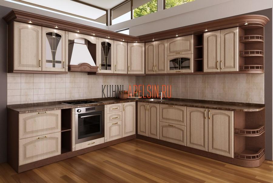 Кухонный гарнитур Ассоль с патиной от фабрики Апельсин