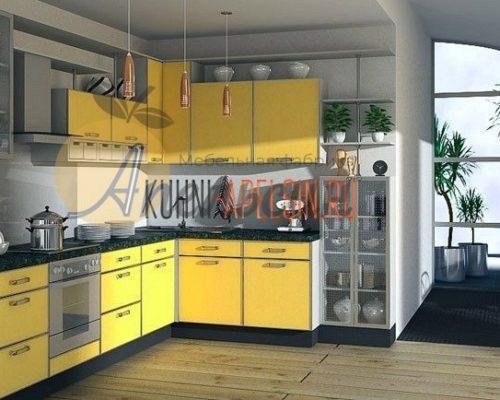 Кухня желтая 10