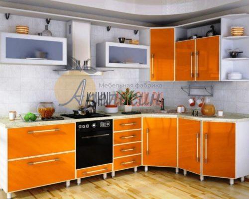 Кухня оранжевая 10