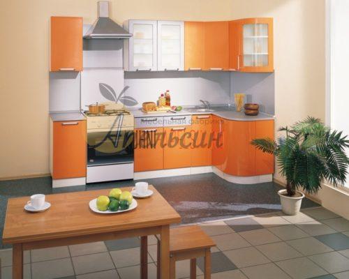 Кухня оранжевая 12