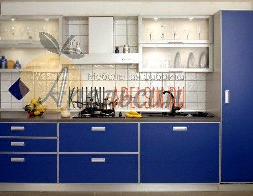 Кухня синяя 15