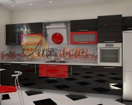 Кухня темная 12