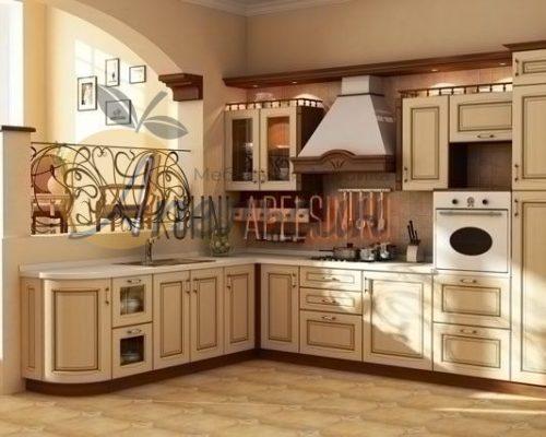 Кухня древесная 13