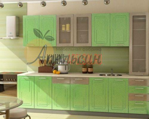 Кухня зеленая 10