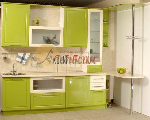 Кухня зеленая 11