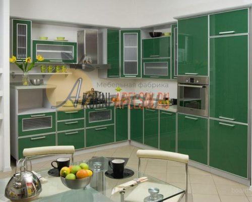 Кухня зеленая 13