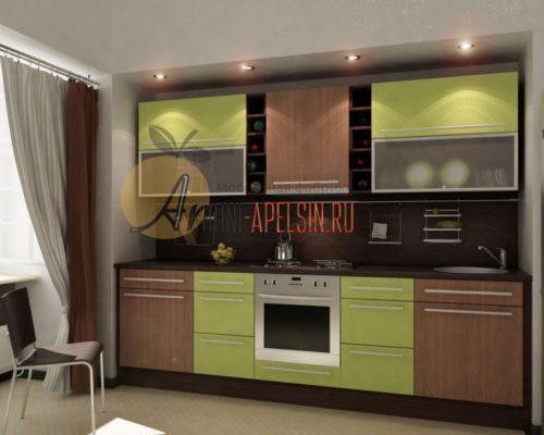 Кухня зеленая 14