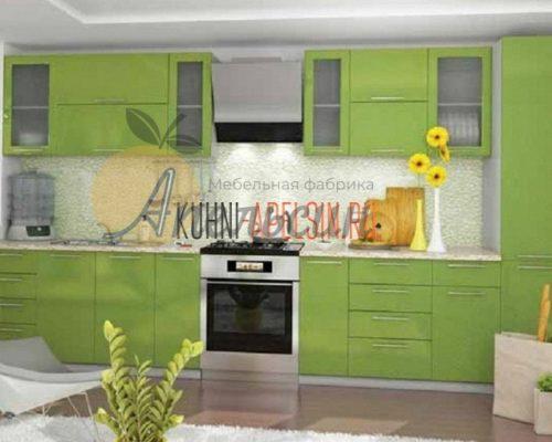 Кухня зеленая 16