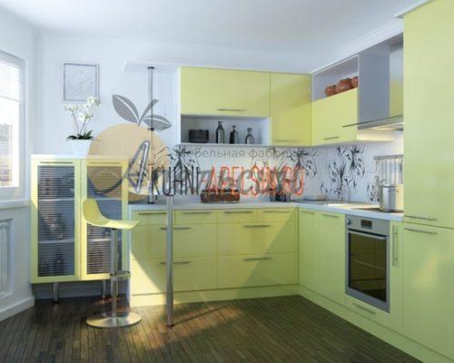 Кухня зеленая 17