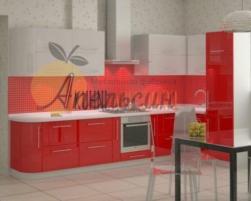 Кухня красная 11