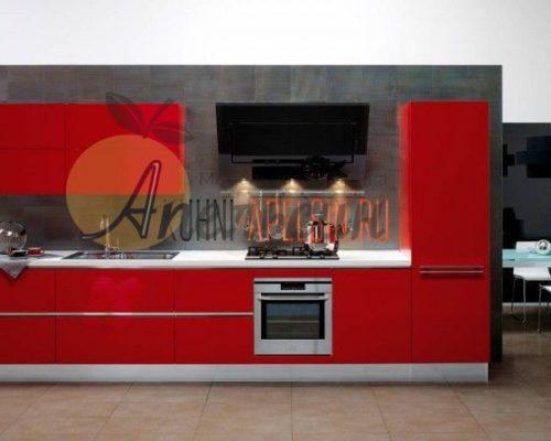 Кухня красная 12