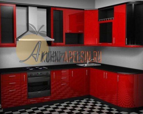 Кухня красная 13