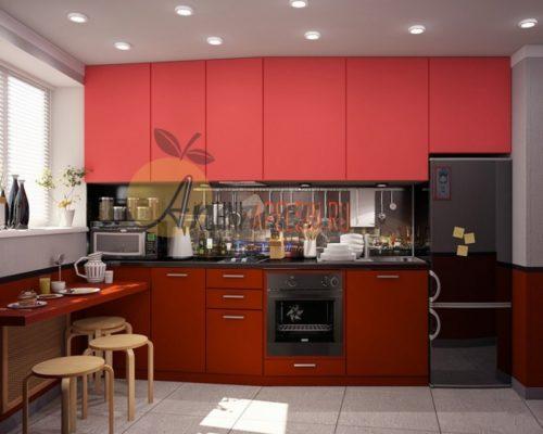 Кухня красная 14