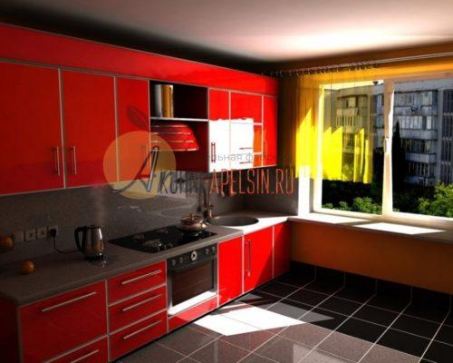 Кухня красная 15