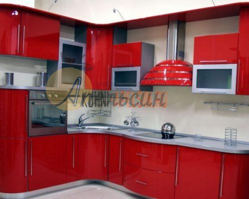 Кухня красная 16