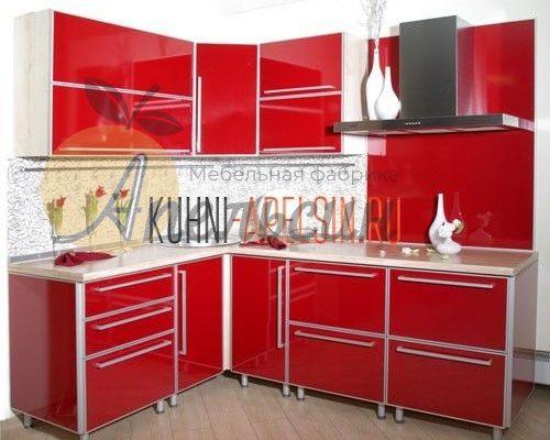Кухня красная 17