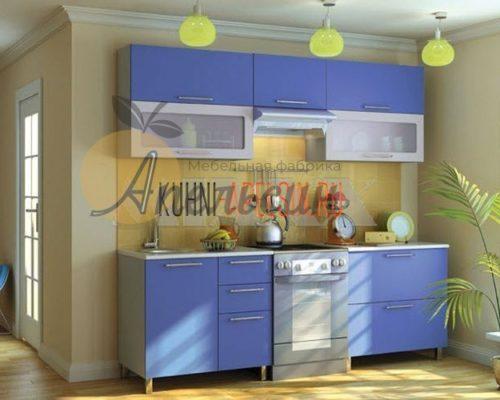 Кухня синяя 10