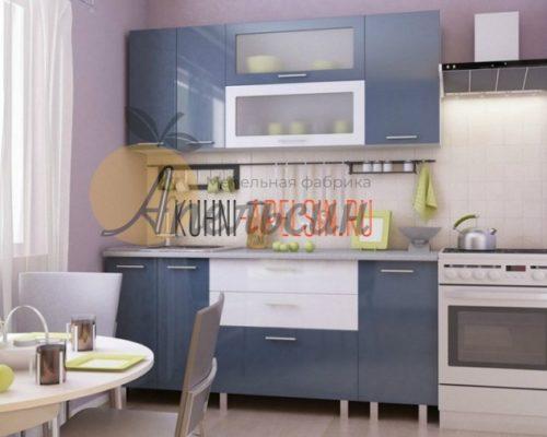 Кухня синяя 12