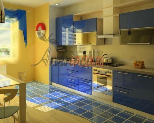 Кухня синяя 13