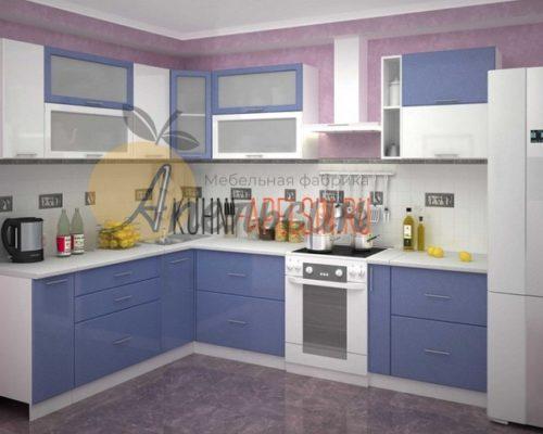Кухня синяя 14