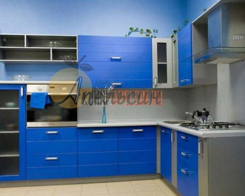 Кухня синяя 16