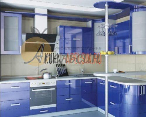 Кухня синяя 17
